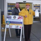 Mount Seymour Lions Ron Morrice and Dave Mair ready to shake the can.