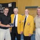 (L-R) Marc Keith, Past President Lion John Pavlik, Past President Lion Ron Morrice and Past President Lion Dave Mair